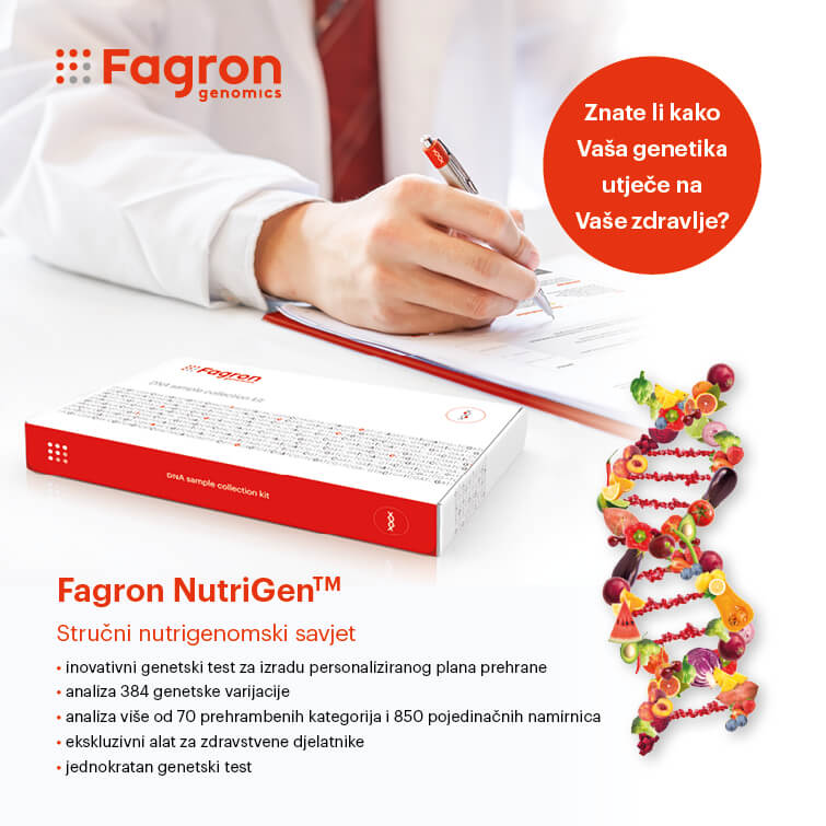 NutriGen™ - genetski test za personalizirano planiranje prehrane